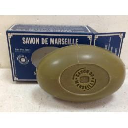Savon de Marseille vert NATURE Brut 150 g à l'huile d'olive dans un étui