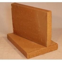 Brique de terre crue en 40x28x5 Modèle Foraine Peine Lisse