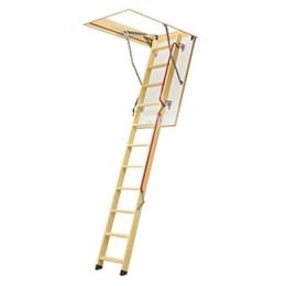 ESCALIER ESCAMOTABLE pliable avec une échelle en bois REF LWL 862013en 70 x 140 cm