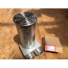 Kit plenum pour sol - FRS-BKGS -75 avec grille ronde en inox diamètre 160